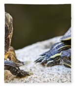 Turtle Conversation Fleece Blanket