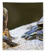 Turtle Conversation Fleece Blanket