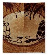 Turtles Love Digital Artwork Fleece Blanket