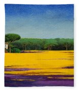 Tuscan Landcape Fleece Blanket