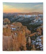Twilight At Bryce Fleece Blanket
