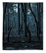 Twilight In The Smouldering Forest Fleece Blanket