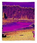 Twilight On La Push Beach Fleece Blanket