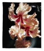 Twin Beauty Hibiscus Fleece Blanket