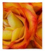 Twin Yellow Roses Fleece Blanket