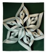 Twisted Paper Christmas Star Fleece Blanket