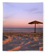 Two Beach Umbrellas Fleece Blanket