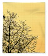 Two Birds In A Tree Fleece Blanket
