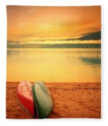 Two Canoes Fleece Blanket