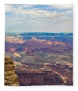 Two Crows Watch Over The Canyon Fleece Blanket