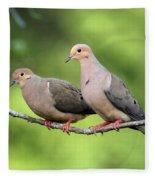 Two Doves Fleece Blanket