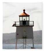 Two Harbors Lighthouse Fleece Blanket
