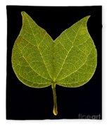 Two Lobed Leaf Fleece Blanket