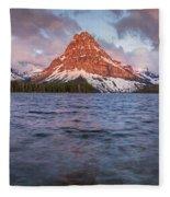 Two Medicine Lake Panorama Fleece Blanket