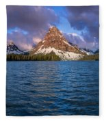 Two Medicine Morning Panorama Fleece Blanket