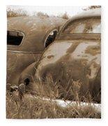 Two Old Rear Ends-sepia Fleece Blanket