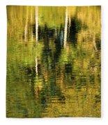 Two Palms Reflected In Water Fleece Blanket