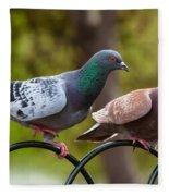 Two Pigeons Fleece Blanket