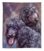 Two Poodles Fleece Blanket