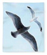 Two Seagulls Fleece Blanket
