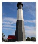 Tybee Island Lighthouse On Beautiful Day Fleece Blanket