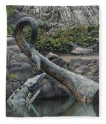 Tylosaurus And Elasmosaurus Fleece Blanket