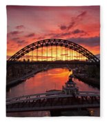 Tyne Bridges At Sunrise IIi Fleece Blanket