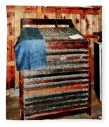 Type Case With Denim Apron Fleece Blanket