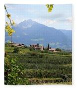 Tyrolean Alps And Vineyard Fleece Blanket