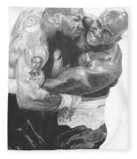 Tyson Vs Holyfield Fleece Blanket