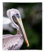Ugly Beauty - Brown Pelican Fleece Blanket
