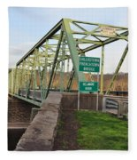 Uhlerstown Frenchtown Bridge Fleece Blanket