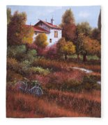 Una Bicicletta Nel Bosco Fleece Blanket