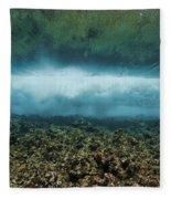 Under An Ocean Wave Fleece Blanket
