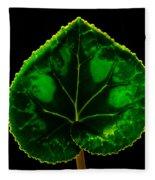 Under Leaf Fleece Blanket