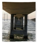 Under Seven Mile Bridge Fleece Blanket