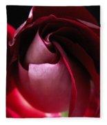 Unfolding Rose Fleece Blanket
