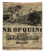 Union Banknote, 1861 Fleece Blanket