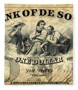 Union Banknote, 1863 Fleece Blanket