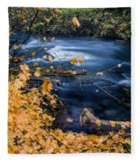 Union Creek In Autumn Fleece Blanket