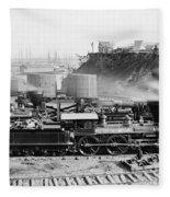 Union Locomotive, C1864 Fleece Blanket