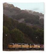 Union Pacific Locomotive Trains . 7d10553 Fleece Blanket