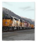 Union Pacific Locomotive Trains . 7d10561 Fleece Blanket