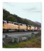 Union Pacific Locomotive Trains . 7d10564 Fleece Blanket