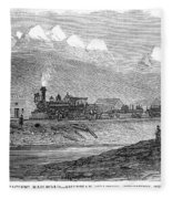 Union Pacific Station, 1869 Fleece Blanket