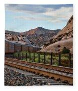 Union Pacific Tracks Fleece Blanket