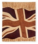 United Kingdom Flag Coffee Painting Fleece Blanket