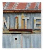 United Rusted Metal Sign Fleece Blanket