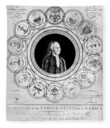 United States, 1787 Fleece Blanket