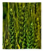 Unripened Wheat Fleece Blanket